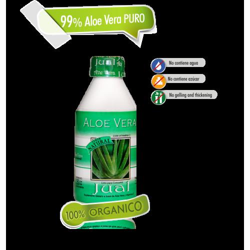 250 cc - Jugo de Aloe Vera Orgánico Bebible, Sabor Natural