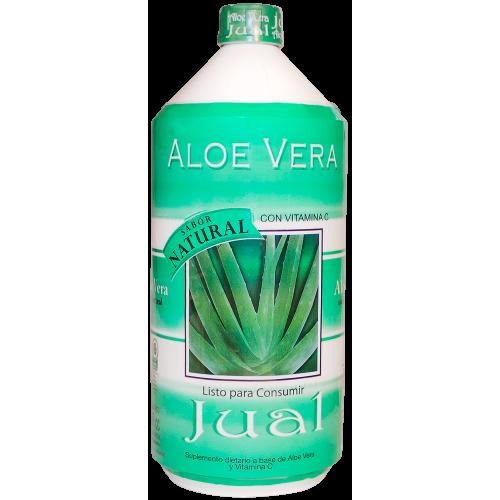 1L - Jugo de Aloe Vera Orgánico Bebible, Sabor Natural