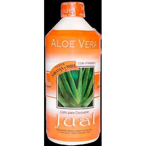 Drinkable Orange-flavoured Organic Aloe Vera Juice
