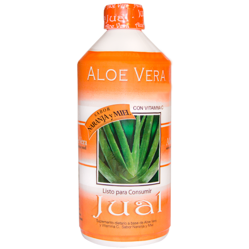 Drinkable Orange-flavoured Organic Aloe Vera Juice