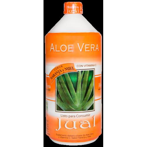 1L - Jugo Bebible de Aloe Vera Sabor Naranja y Miel