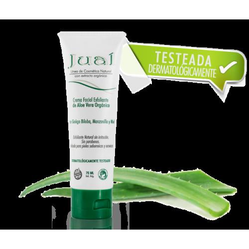 Crema Facial Exfoliante de Aloe Vera Orgánico