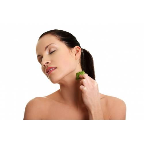 Loción de limpieza profunda facial y corporal de aloe vera orgánico