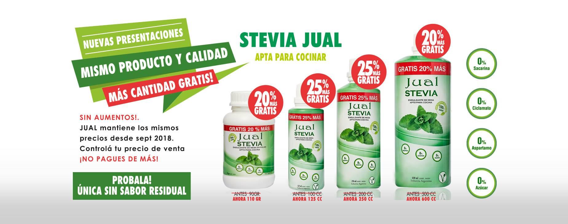 Nuevas presentaciones stevia Jual